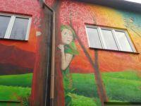 Barevný dům v Čakovicích - detail