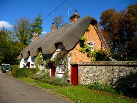 A great looking cottage in the small village of Wherwell, Hampshire.  Photo by Chris Talbot