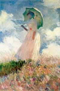 Claude Monet - Woman with a Parasol, facing left, 1886 - especially for jignjw (Mar17P75)