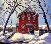 Red House, Winter by Lawren Harris
