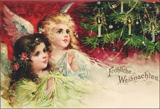 Victorian Christmas Cards - Angels!