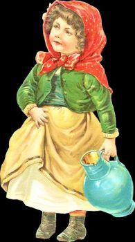 Themes Vintage illustrations/pictures - Sweet Victorian Girl