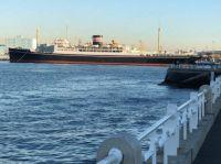 Hikawa Maru berthed at Yamashita Park, Yokohama