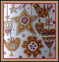 Art - Colouring - Seasonal / Christmas - Gingerbread Cookies Biscuits Tree Trims (Very Large)