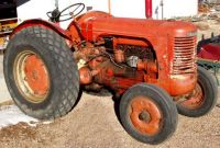Orange Tractor, not Plowing
