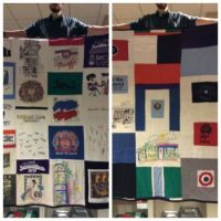 twin size t-shirt quilt front & back