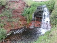 Waterfall at Cape Wolfe beach, PEI