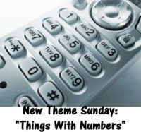 """New Theme Sunday: """"Things With Numbers""""  Enjoy."""