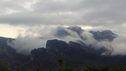 Low Clouds on Superstition Mountain