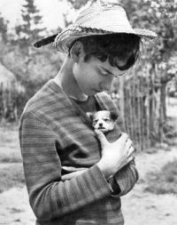 Boy and puppy / USSR / 1968
