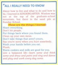 Things I Learned Part #1