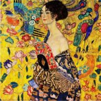 A Most Colorful Painting ~ Lady with a Fan  By Gustav Klimt