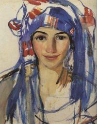 Zinaida Serebriakova - Self-Portrait in a Scarf