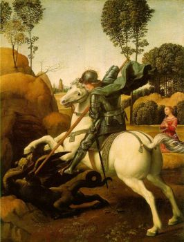 St George by Raphael