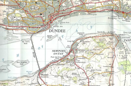 Dundee and the Tay Bridge, 1959