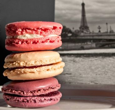 Macarons and Eiffel Tower, by ajagendorf25 on flickr