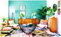 Simple Living Room Decor with Colour