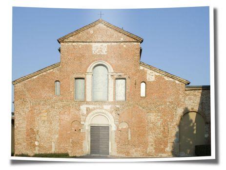 Facciata Santa Maria in Calvenzano - Vizzolo Predabissi (M) . Italy (SE Milan)
