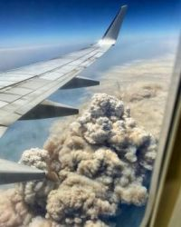 Ariel photo of NSW Australia Bushfire.