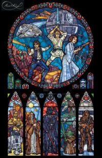 Star Wars stained glass - art by nenuiel