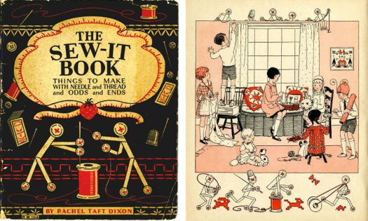 Old Sewing Book for Kids