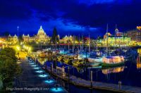 Victoria, BC - Inner harbour at night