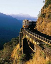 trem na montanha