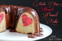 Strawberry and Vanilla Heart Poundcake