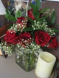 Roses on my desk