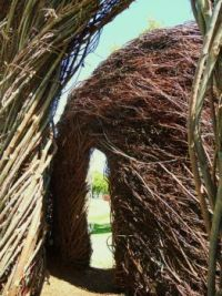 At FSU - Patrick Dougherty - Artist in Residence