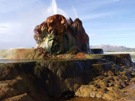 Theme - Fly Geyser in Nevada