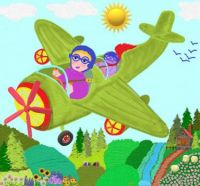 Mom Gives Basil Flying Lessons