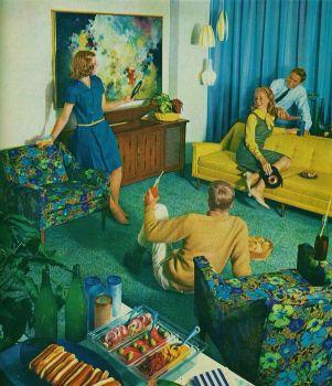 "Kroehler ""Party Proof"" furniture"