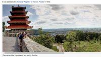 Panorama of Reading PA and Pagoda atop Mt. Penn