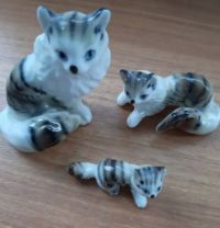 Cat and kitten ornaments