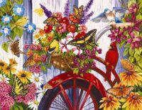 Floral Bike bird
