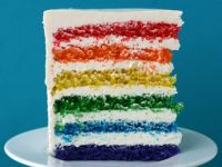 rainbow cake by whisk kid!