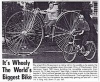 Wheely, the worlds biggest bike
