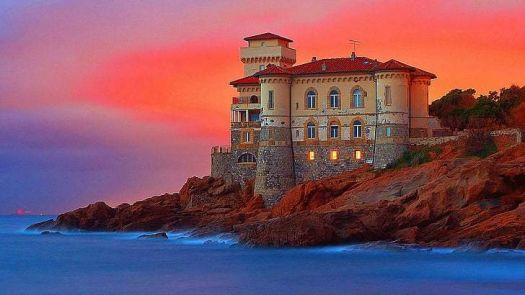 Headland Castello del Boccale red sunset