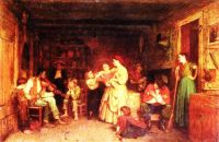 Fiddling His Way by Eastman Johnson