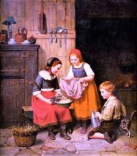 Kinder mit Kätzchen/Children with Kittens (1865)