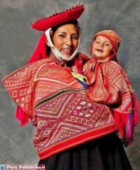 Incan mother and child, Peru