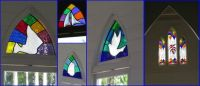 St Mary's by the Sea stained glass windows...Port Douglas.