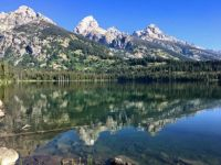 Grand Tetons from Taggart Lake trail