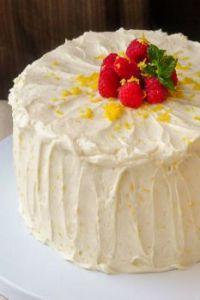 Raspberry Lemon Buttercream Cake 2
