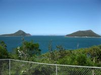 Looking out the heads at Port Stephens