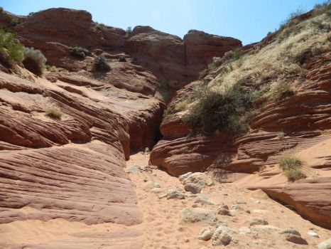 entrance to Buckskin Canyon, Utah