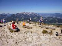 Alpy - vyhlídka z Orlího hnízda