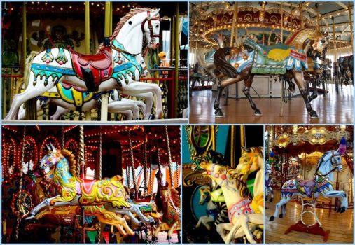 Carousel Horses - larger