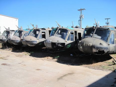 Huey boneyard - Army Aviation Heritage Foundation
